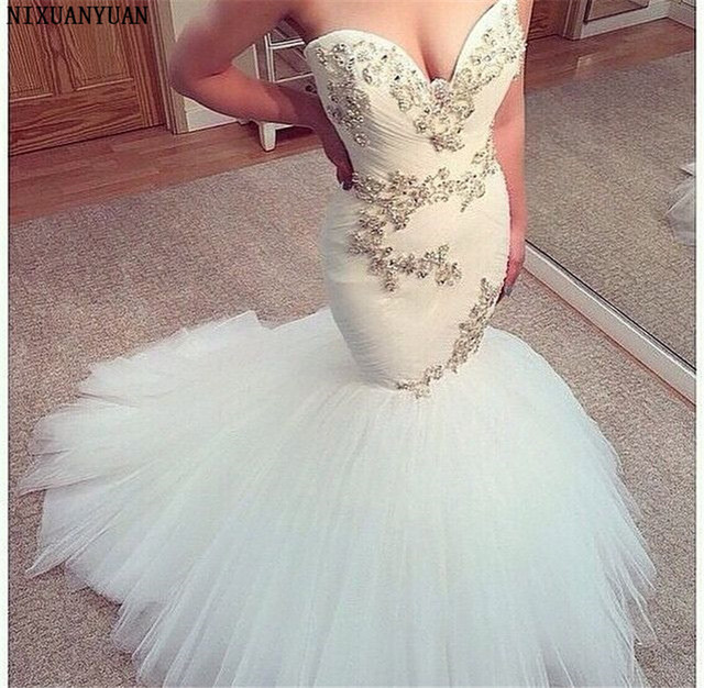 Romantic African Mermaid Wedding Dresses Sweetheart