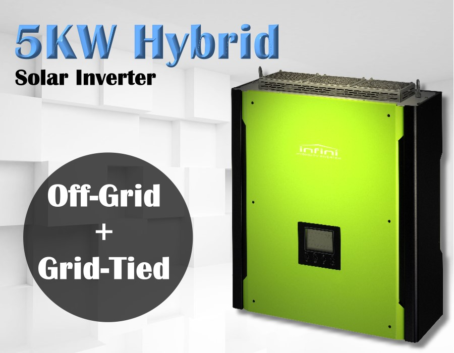 5000w Hybrid solar inverter Grid tied Solar inverter + Off