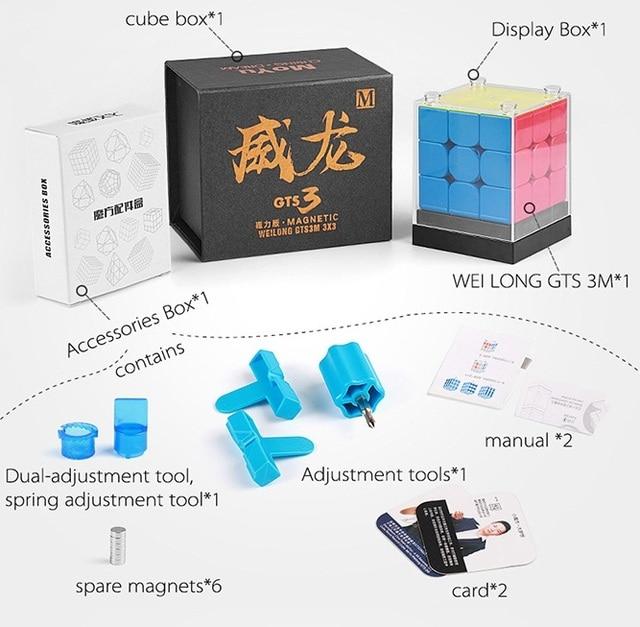 Neo Cube GTS3M MoYu Weilong GTS V2 V3 M 3x3x3 Magnetic Magic Cube Puzzle GTS 3M 3x3 GTS2 M Speed cubo magico eudcation Kids toys 5