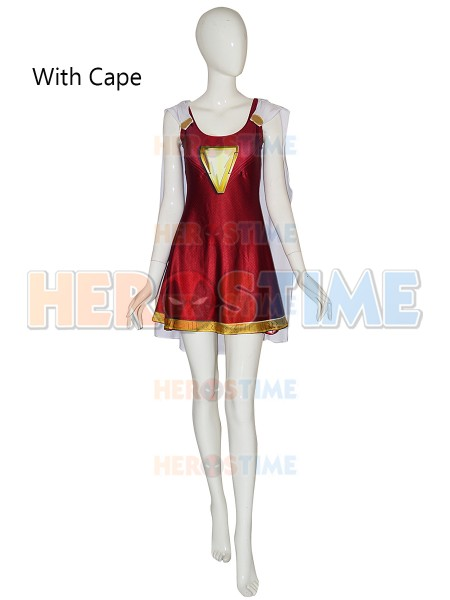 Shazam Family Mary Marvel Cosplay Costume 3D Print Spandex zentai Dress halloween costume for woman