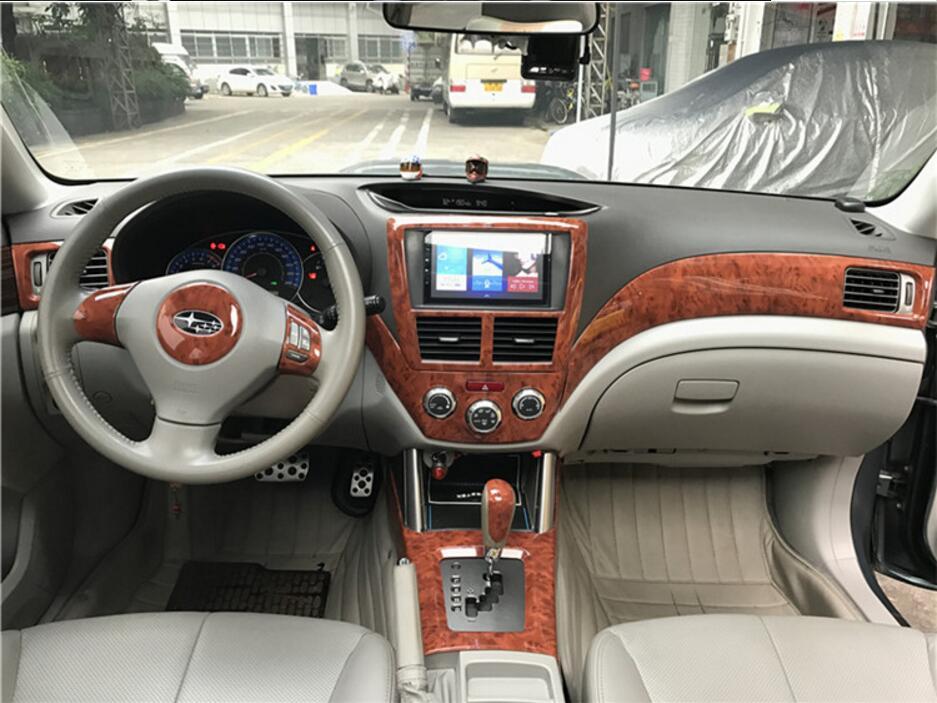 JINGHANG acajou intérieur ventilation anneaux garnitures couverture pour Subaru Forester 2008 2009 2010 2011 2012