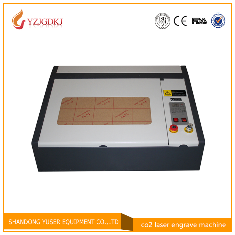 Free shipping 4040 co2 double color plate plastic laser cutting machine free shipping 4040 cardboard plates machine laser cutter 50w
