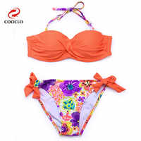 COOCLO Hot Swimwear Bandage Top Bikini 2019 Women Sexy Swimsuit Beach Wear Leopard Brazilian Bikinis Set Push up Bathing Suit