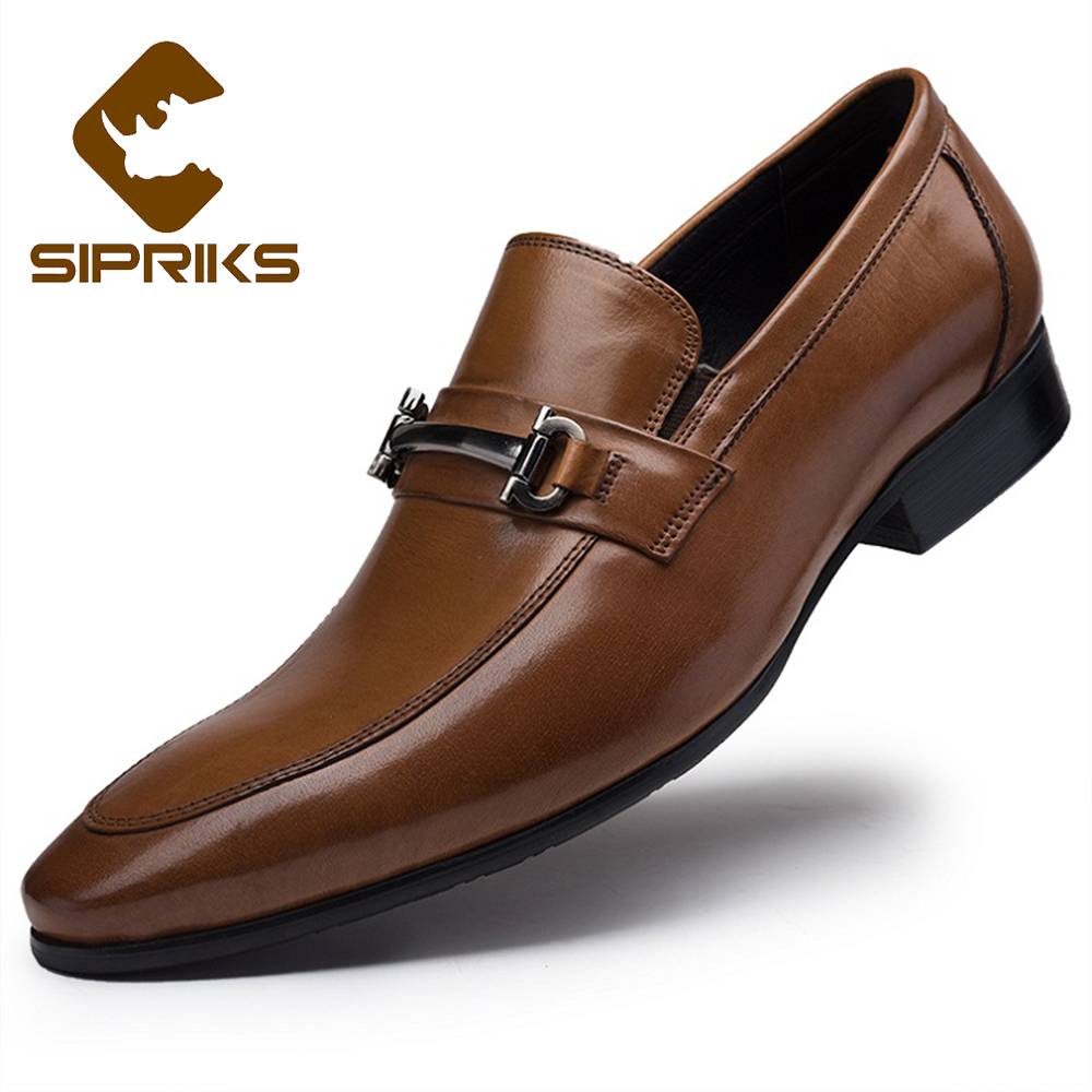 brown wedding shoes sipriks luxury brand designer loafers for men italian 2092