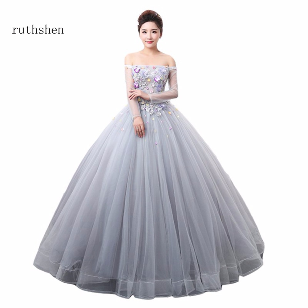4548a189b4f ruthshen Luxury Off The Shouler Quinceanera Dresses Boat Neck Vestidos De 15  Anos Quinceanera Gowns Sweet