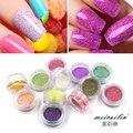 1Box Nail Sugar Glitter Dust Powder 3D Pigments Sequins Nail Sugar Powder Polish Gel Girl Color Dazzling Nail Art DIY Pearl Tips