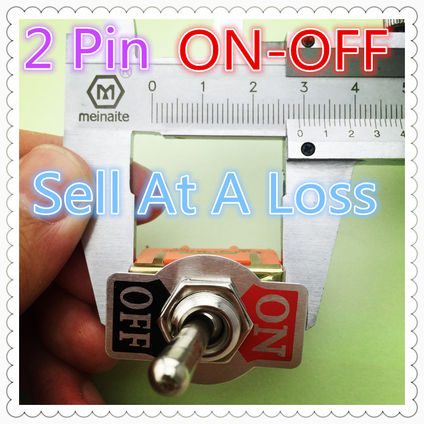 3pcs G109  E-TEN1021 2-Pin SPST 2 Terminal ON-OFF 15A 250V Toggle Switch High Quality Sell At A Loss Belarus Ukraine USA yellow led on off rocker switch w terminal protector set for electric appliances 2 pcs