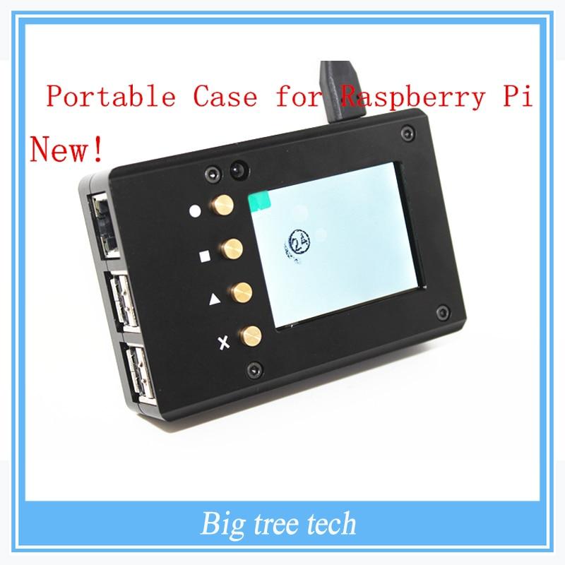 ФОТО New Design!! Raspberry Pi 3&2 Metal portable case kit--Metal case + Screen + Screw-- Aluminum Alloy and Ultrathin Design!!!