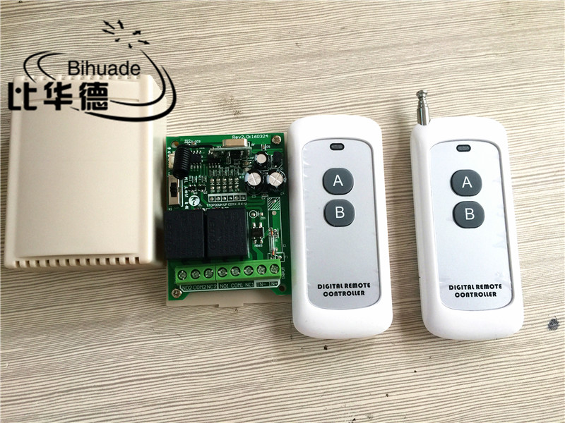 433Mhz Universal Wireless Remote Control Switch DC 12V 2CH relay Receiver Module with RF Transmitter 433 Mhz Remote Control qiachip 4pcs rf transmitter 433 mhz remote controls 433mhz wireless remote control switch dc 12v 1ch rf relay receiver module