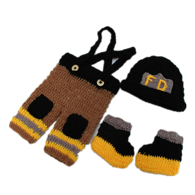 Bebé recién nacido bebé sombrero + Pantalones + zapatos bomberos ...