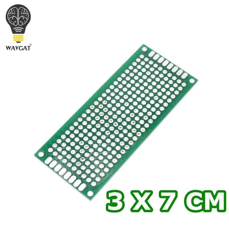 WAVGAT 1 pièces 3x7cm Double face Prototype PCB bricolage universel Circuit imprimé