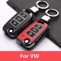 Leucht Auto Remote key fall Für VW Polo Golf 7 Tiguan für Skoda Octavia Karoq SITZ Ateca Leon Ibiza 2017 2018 2019 langlebig-in Schlüsseletui für Auto aus Kraftfahrzeuge und Motorräder bei