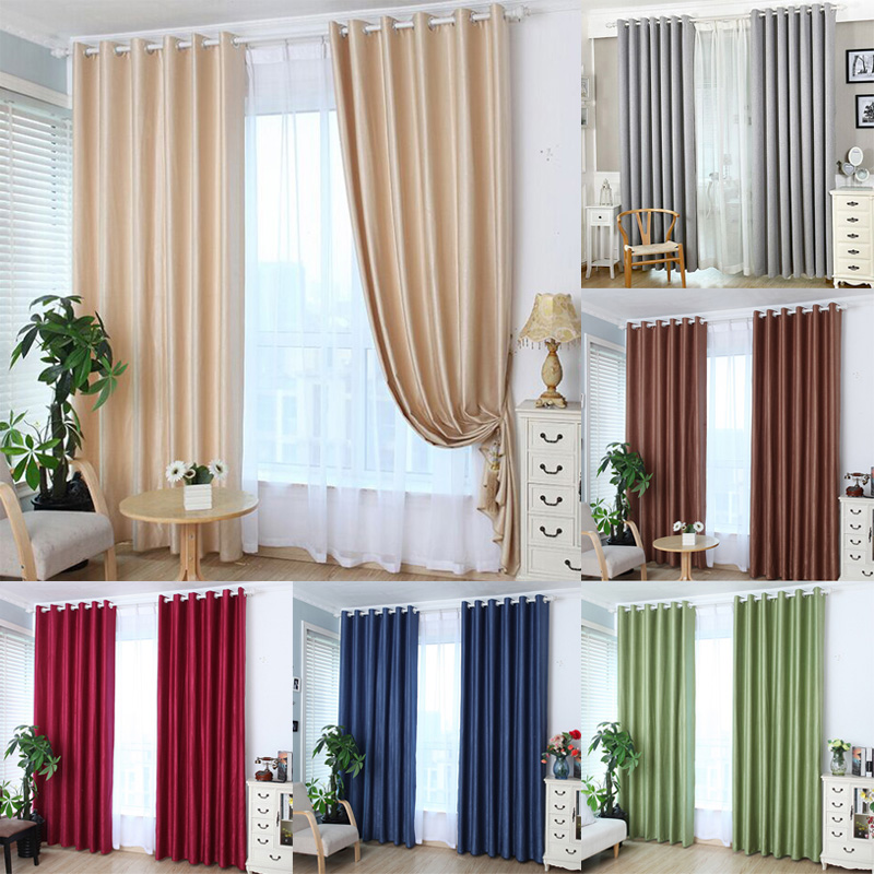 Buy 1pcs grommet window curtain bed room valances window curtains shade for Lined valances for living room