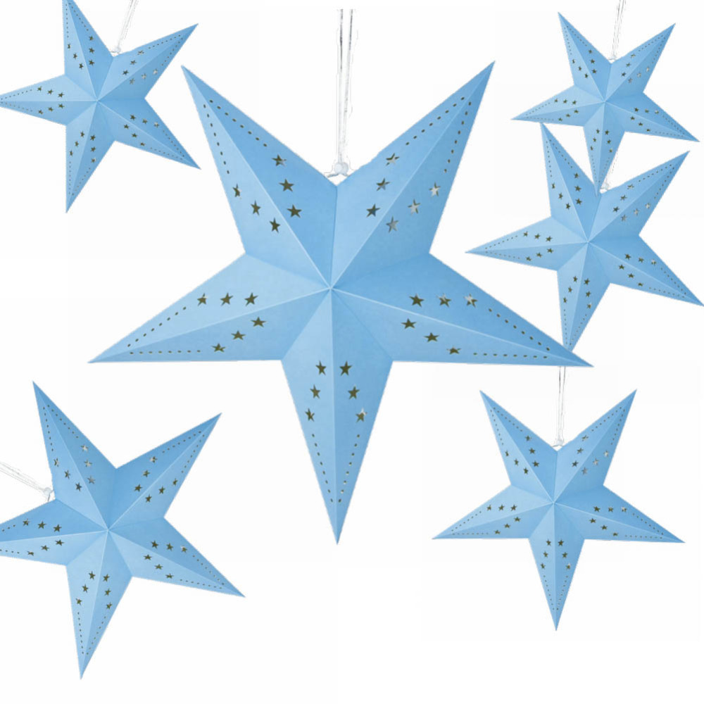 1pc 60cm 3D Hanging Paper Star Lanterns 5 Pointed ...