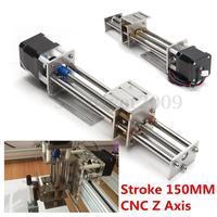 Funssor 50mm/150mm slajdów skoku CNC oś Z slajdów liniowy ruch + NEMA17 silnik krokowy dla Reprap grawerowanie maszyny w Części i akcesoria do drukarek 3D od Komputer i biuro na