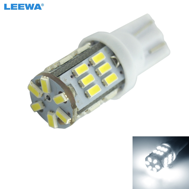 LEEWA 4pcs Super White 3W T10 W5W 3014 Chip 30-SMD Canbus No-Error Car Clearance Lamp/Reading LED Light #CA4196 ...