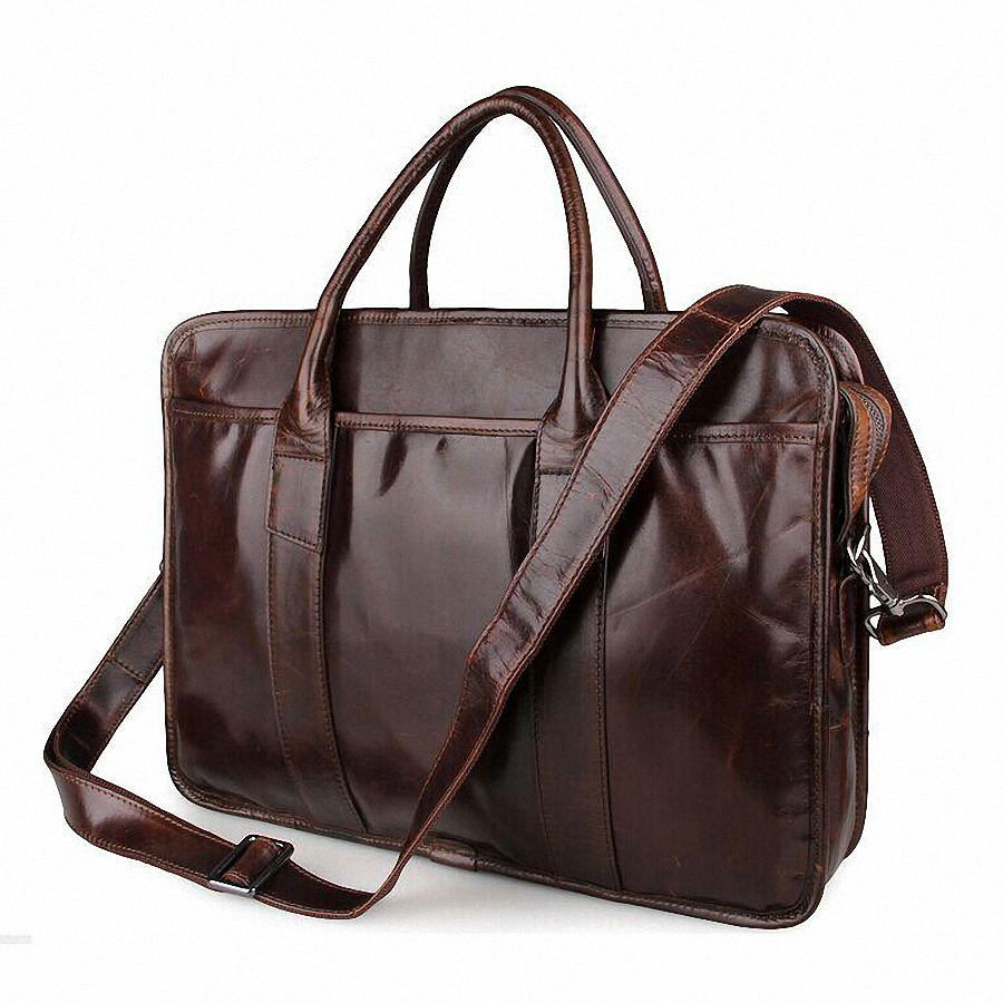Aliexpress.com : Buy 15inch Leather laptop bag genuine leather men ...