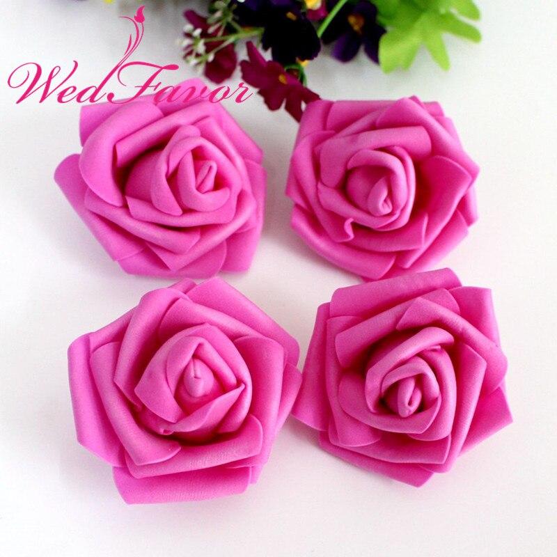 Décoration Fête À faire soi-même en soie synthétique Faux Fleurs Mini Rose artificielle 15 Head
