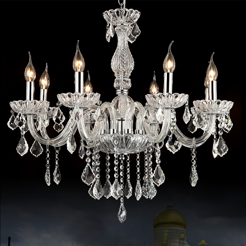 bohemian crystal chandelier round candle chandelier 8lights suspension lighting dining room modern glass chandelier crystals