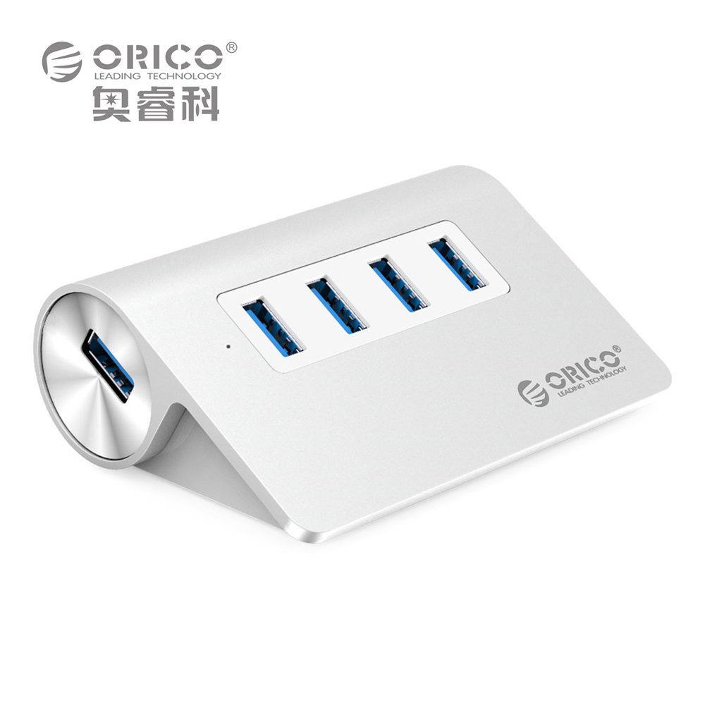 USB HUB, ORICO M3H4 Aluminum High Speed Mini 4 Port USB 3.0 HUB with Vl812 Chipsets 1M Cable