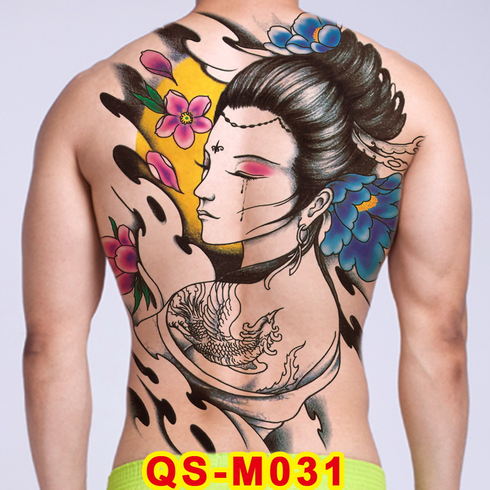 Tattoo Tribal Designs Gothic Tattoo Boys Full Back Large Tattoo Body Stickers Temporary Tattoos Men Sexy Fake Tatoo Big Water Temporary Tattoos Aliexpress