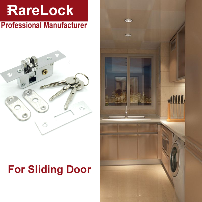 Rarelock MS536 Sliding Door Lock Cylinder for Bedroom Bathroom Accessories Cupboard Home Safety Hardware with Keys DIY h