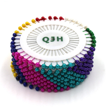 120pcs Colorful Pearl Head Pin Sewing Craftwork Dressmaking Patchwork Straight Needle Pins Accessories Decoration