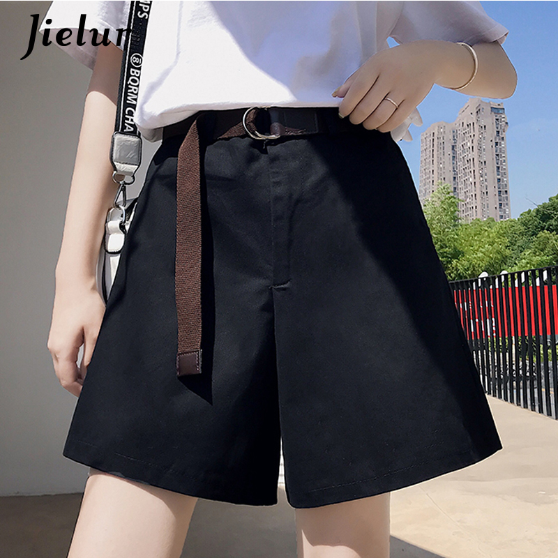 Jielur Black Shorts Cargo Streetwear Female Femme Korean Summer Women Khaki Loose