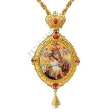 Высокое качество ручной крестообразный шнек греческий ортодоксальный крест Девы Марии икона религиозное ремесло