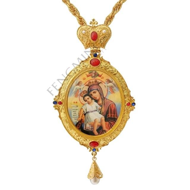 Высокое качество ручной крестообразный шнек греческий православный крестообразный крест Дева Мария икона религиозное ремесло