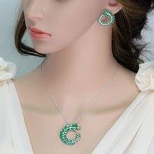 Модные свадебные комплекты ювелирных изделий bilincolor зеленое