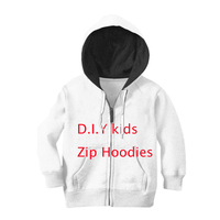 YOJULY DIY Baby Boys/Girls zipper Hoodie To map your custom 3D Print your Pullover Hooded shirt Kids Size 1 15 Birthday Present