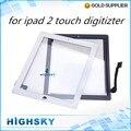 1 unidades envío libre 100% probado lcd cristal de la pantalla con flex cable para ipad 2 touch digitizer + herramientas