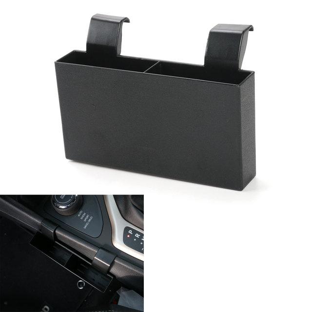 Interior do carro Preto de Plástico ABS Caixa De Armazenamento Titular de Telefone Celular Cobrando Titular Orangizer Para Cherokee 2016 Car Styling