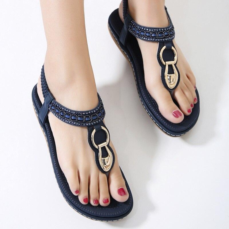 Summer Women Shoes Platform Sandals Gladiator Sandals Footwear Women  Bohemia Ladies Shoes Flip Flops Flat Female