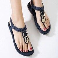Summer Women Sandals Women Shoes Bohemia Gladiator Sandals Flat Shoes Plus Size Ladies Shoes New Flip