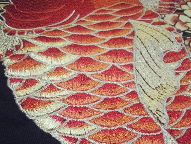 HTB19jRELVXXXXaBXFXXq6xXFXXX4 - Japan YOKOSUKA embroidery dragon and koi baseball uniform unisex shirt