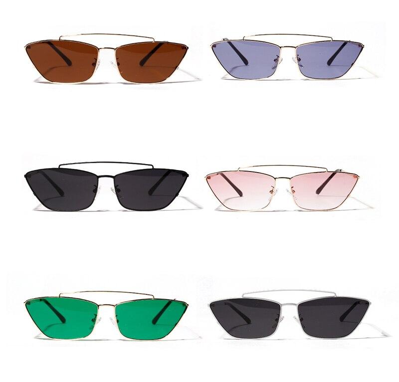 ladies cats eye sunglasses green lens detail (4)