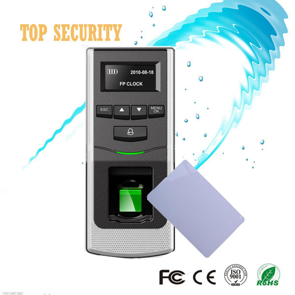F6 fingerprint access control system with MF card reader home security system door controller standalone access control panel