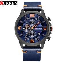 CURREN montre bracelet de sport pour hommes, à Quartz, mode, chronographe, horloge étanche