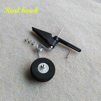 10 pcs/lot 50 120 class steering tail wheel COMBO fiber glass bracket + wheel + steering system aircraft tail wheel