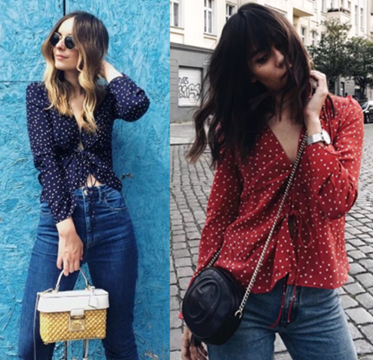 chiffon blouse new fashion spring shirt female festivals classics shirts elegance ladies boho womens tops vintage clothes