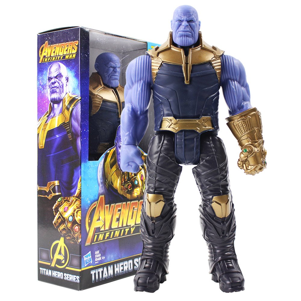 Titan Hero Series Marvel Avengers 3 Infinity War Thanos Action Figure Toy PVC Collectible Model Toys for Children action figure marvel avengers 3 infinity war figure thanos pvc avengers infinity war thanos figure collectible model toys light