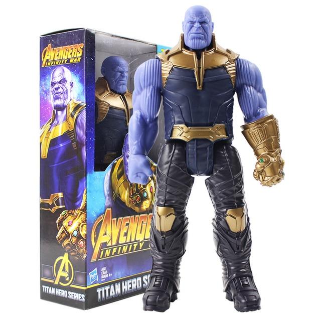 Titan Série Herói Marvel Avengers 3 Infinito Guerra Thanos Collectible Modelo Toy Action Figure PVC Brinquedos para As Crianças