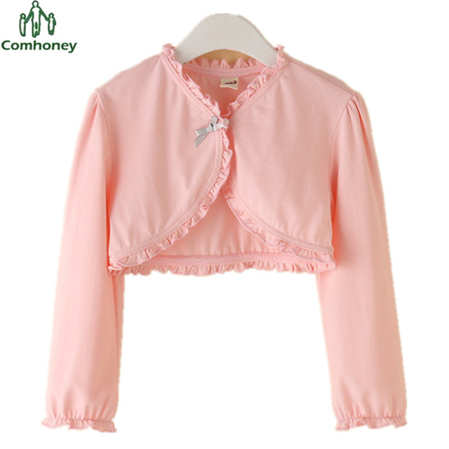 S Jacket Bolero For Solid Wedding Suit Kids Summer Cardigan Ager Sun Protection White