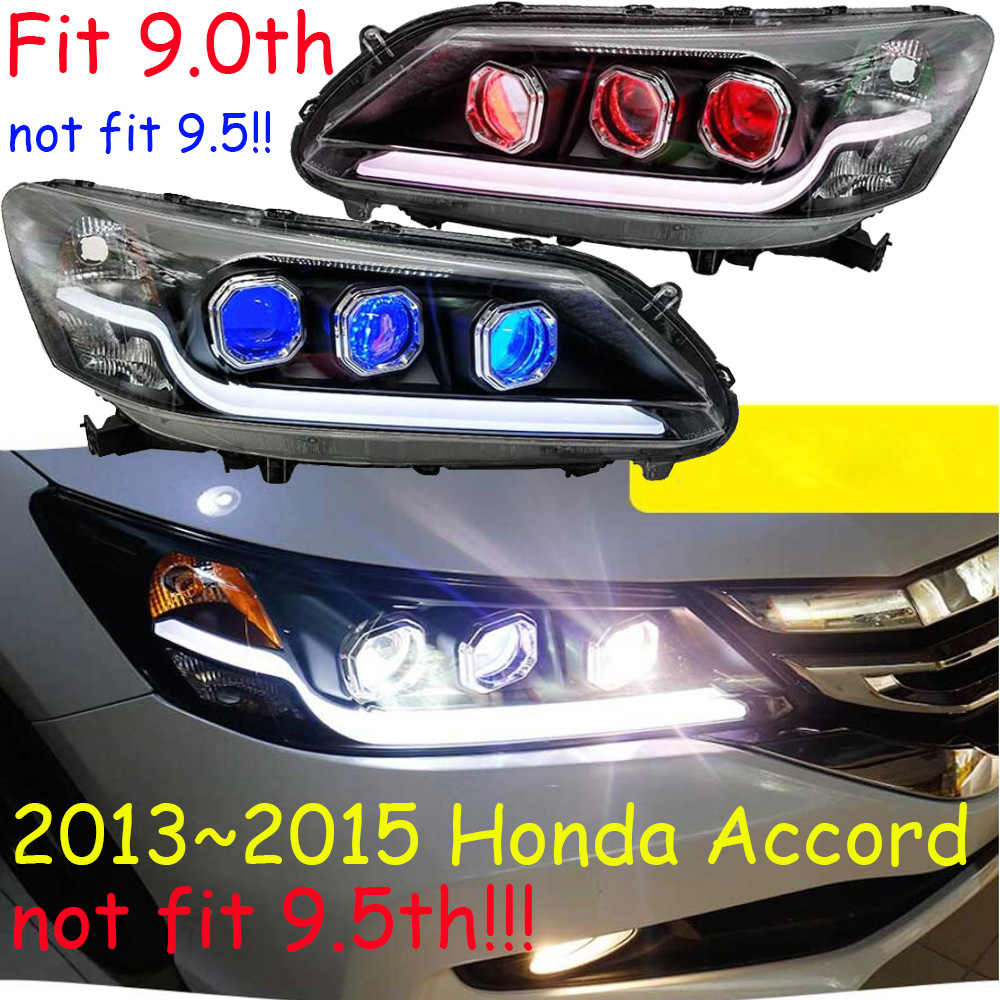 car styling For hid xenon 9th Head Lamp LED For Accord Headlight Spirior fit 2013~2015year With Head Light(not fit 9.5th!!!)