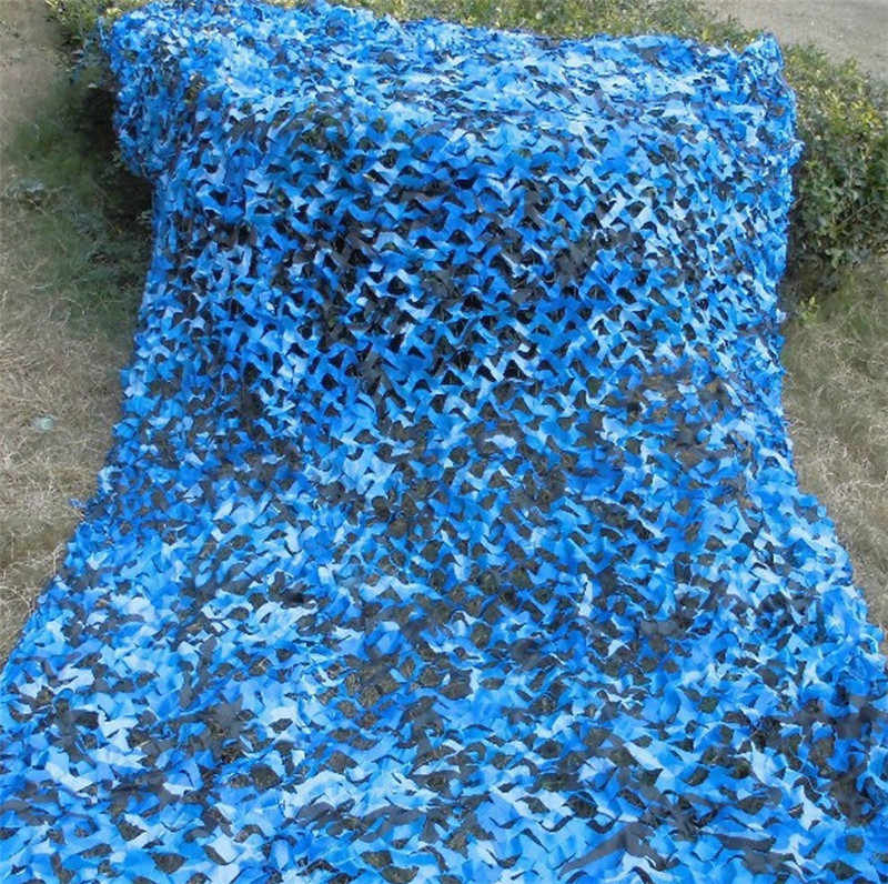 Azul mar camuflagem net blinds capa para militar do exército caça acampamento fotografia militar observação de aves tamanho diferente