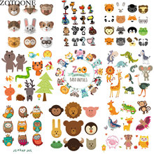 cartoon Lovely animals Thermography  Patch Iron on Transfer Applications for Kids Clothes DIY  Heat Transfer Vinyl Stickers D