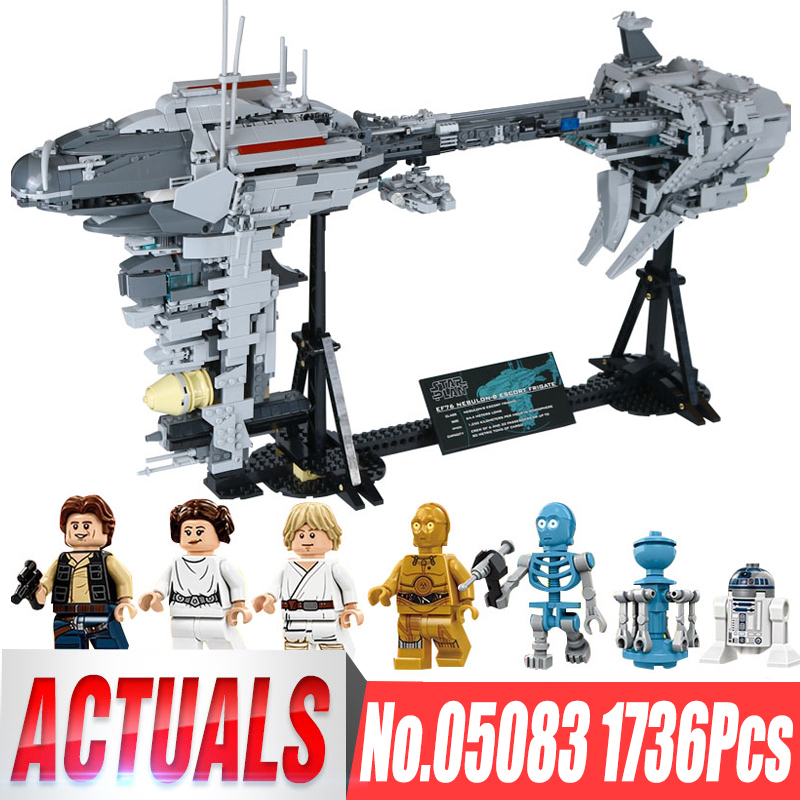 DHL 05083 1736Pcs Star Toys Wars MOC Nebulon B Medical Frigate Building Blocks Bricks Assembly Kits