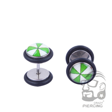 plant Romantic love four-leaf clover Body piercing Jewelry Acrylic Stainless Steel women men Stud Earrings Screw-back ear plugs